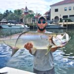 Catch a tarpon while your fish are being cleaned